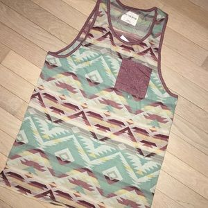 Spring Break tribal patterned tank top